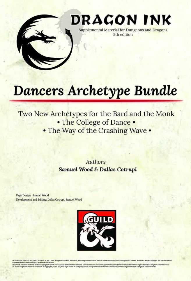 Dancers Archetype Cover Page-01